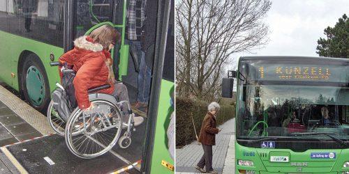 Bushaltstellen mit geformten Borden – ideal für ALLE Fahrgäste